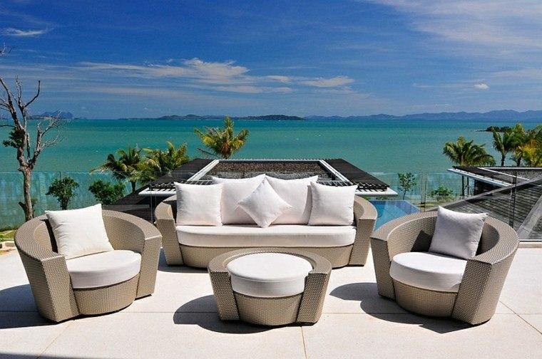 terraza muebles teca vistas maravillosas mar ideas
