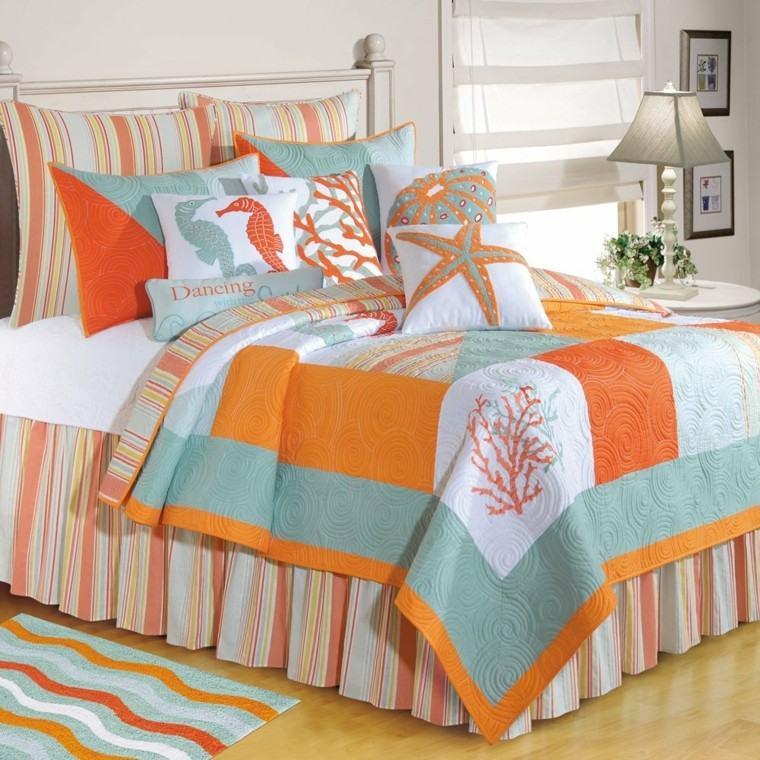 textiles cama decoracion niños hipocampo