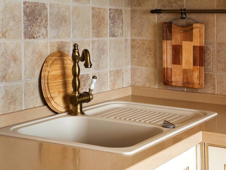trabertino azulejos cocina madera textura