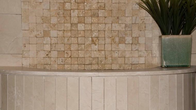 trabertino exterior revestimiento plantas pared