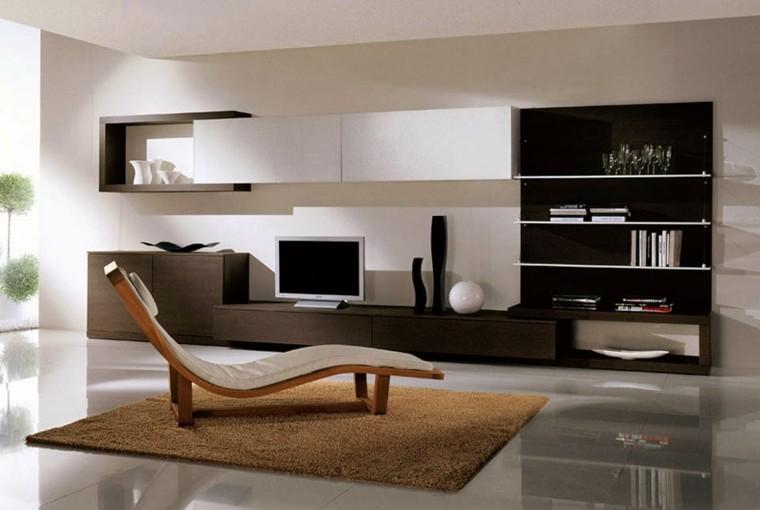 Muebles de salon modernos y funcionales menos es m s for Diseno de muebles para tv modernos