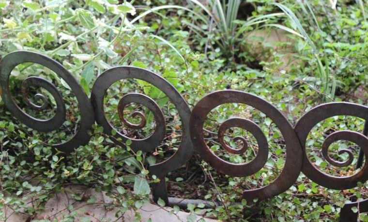 valla metal formas caracoles deco