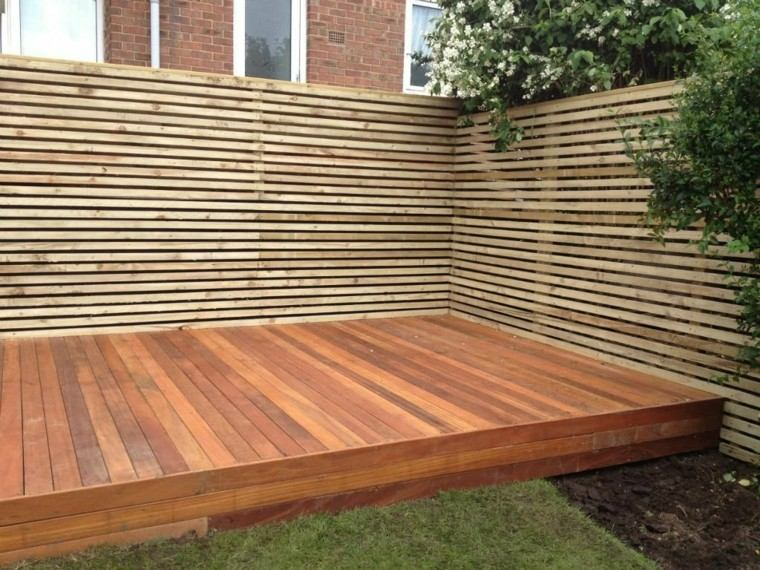 Vallas de madera y vallas met licas para el jard n for Ideas para suelos de interior