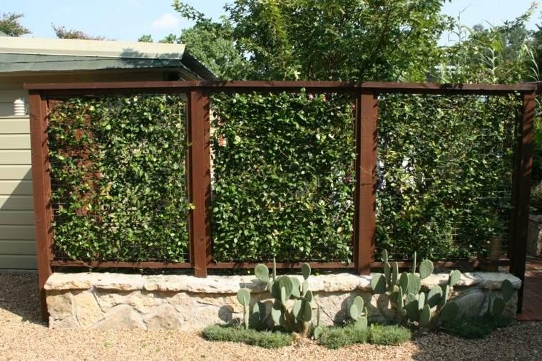 vallas acero plantas ideas jardin moderno bonita