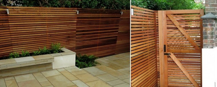 Vallas de madera y vallas met licas para el jard n - Cierres de jardin ...