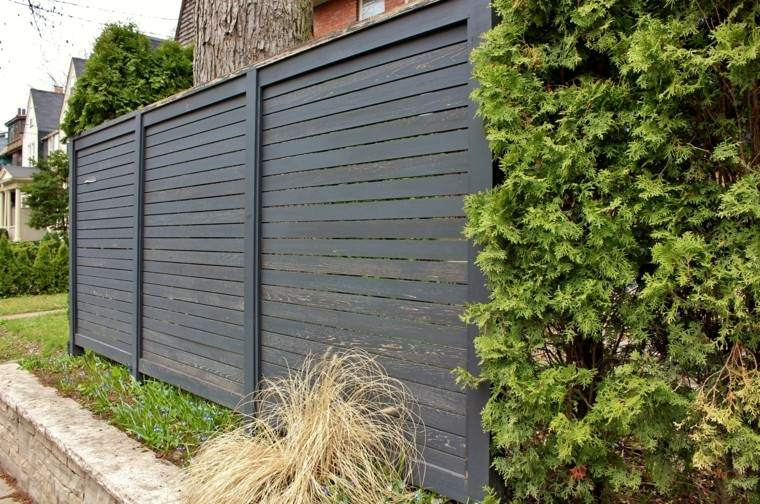 Casas cocinas mueble vallas madera para jardin - Valla madera jardin ...