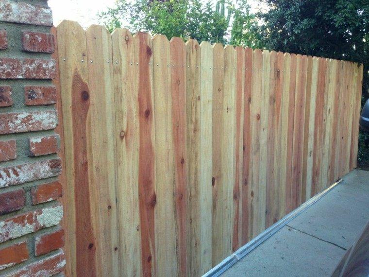 vallas madera jardin delantero ideas bonita