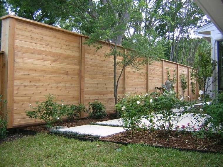 vallas madera jardin rosal altas bonitas ideas