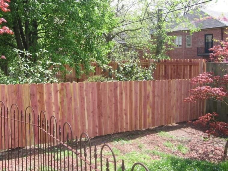 vallas madera matal ideas jardin casa bonita