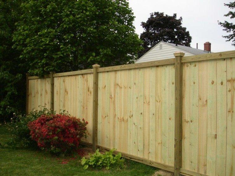 Vallas de madera y vallas met licas para el jard n - Valla madera jardin ...