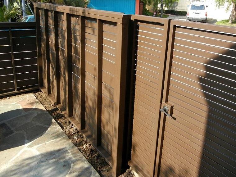 Vallas de madera y vallas met licas para el jard n - Puertas metalicas jardin ...