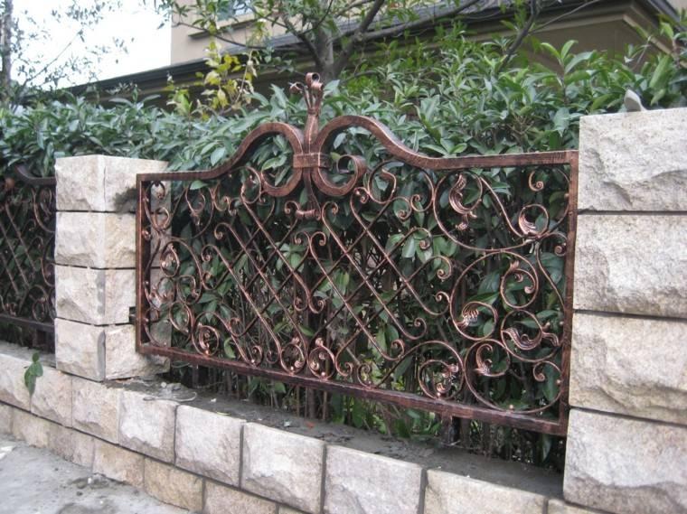 vallas metalicas estilo rustico jardin original
