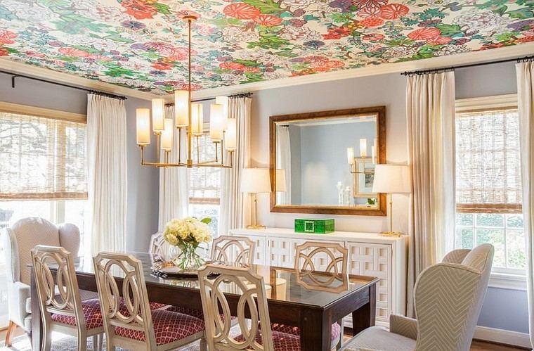 varios colores papel pared techo ideas