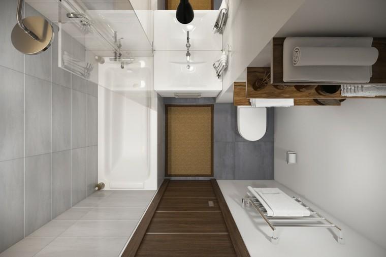 vista arriba baño pequeño loft