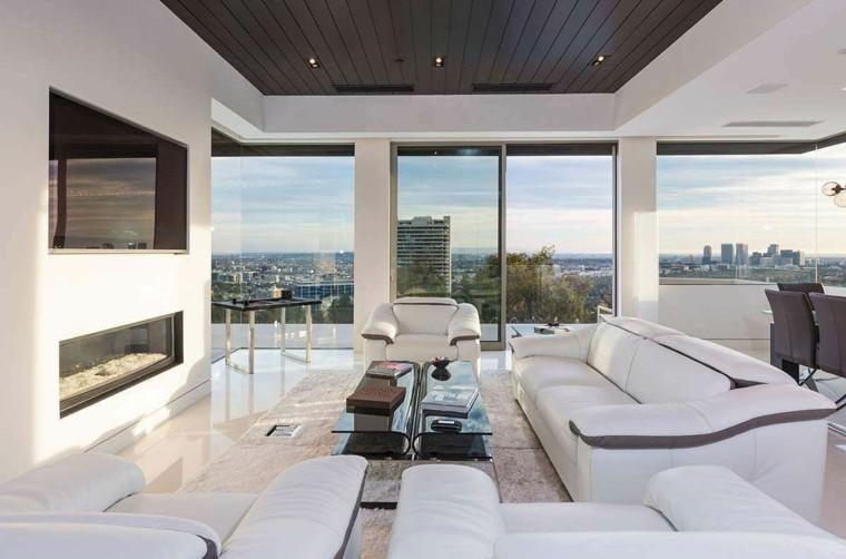 vista muebles blancos alfombra muebles