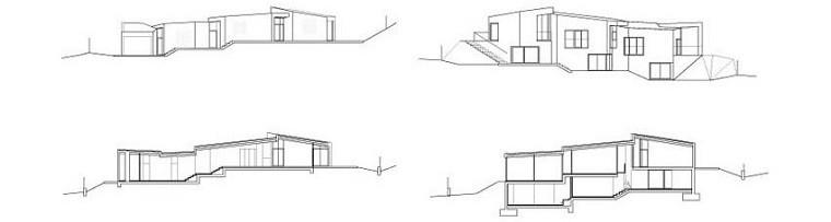 vista pisos laterales diseño casa