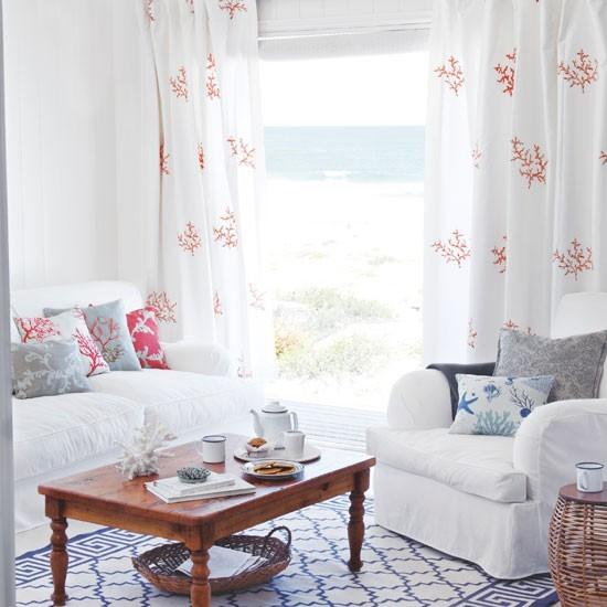 vistas mar casa playa salon blanco puro ideas