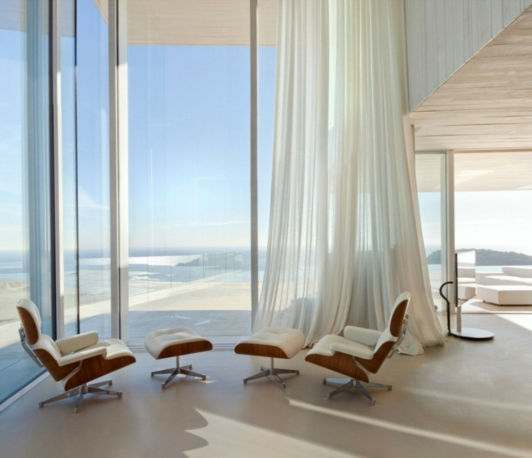 vistas preciosas mar sillones comodos taburetes cuero blanco ideas