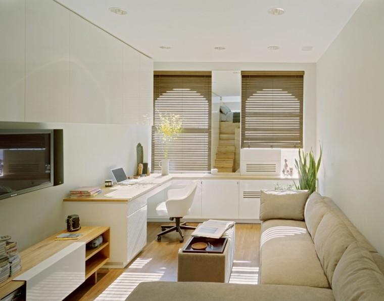 vivienda pequena decoracion bonita cortinas ideas modernas