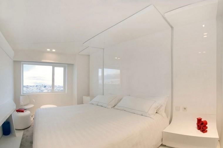 dormitorio penthouse color blanco pequeño