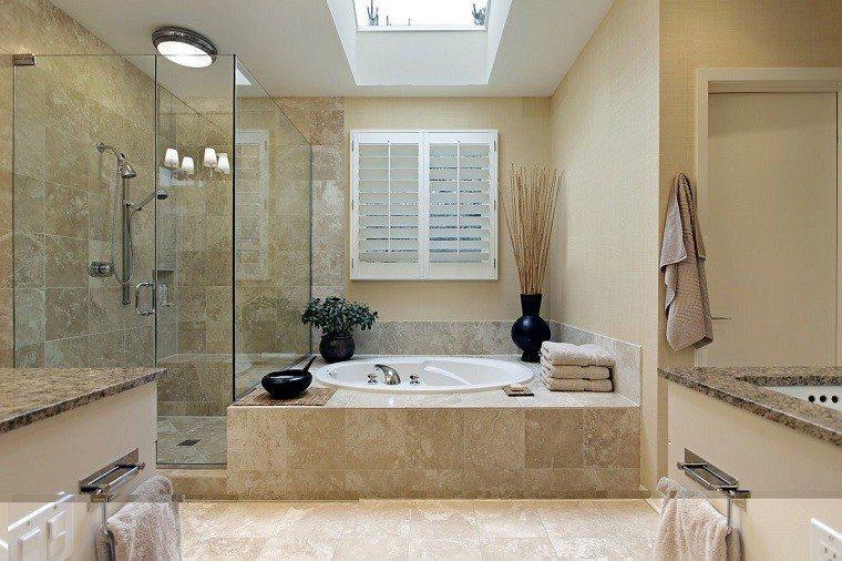revestimiento marmol baño moderno