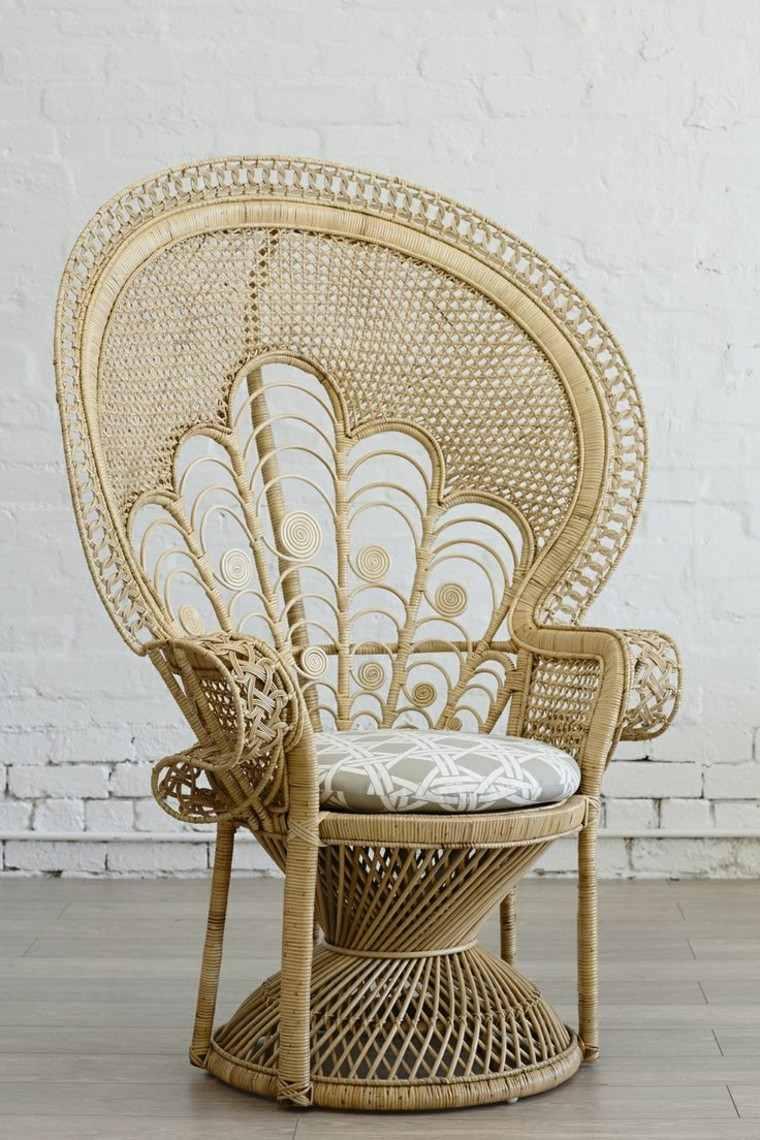 silla pavo respaldo preciosa grande moderna