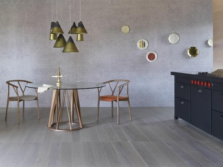 Florian Schmid disenador mesa sillas salon moderno ideas