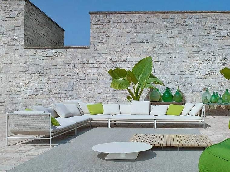 sofa diseno moderno color blanco jardin ideas