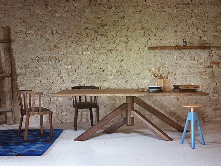 Paolo Cappello mesa sillas madera diseno ideas