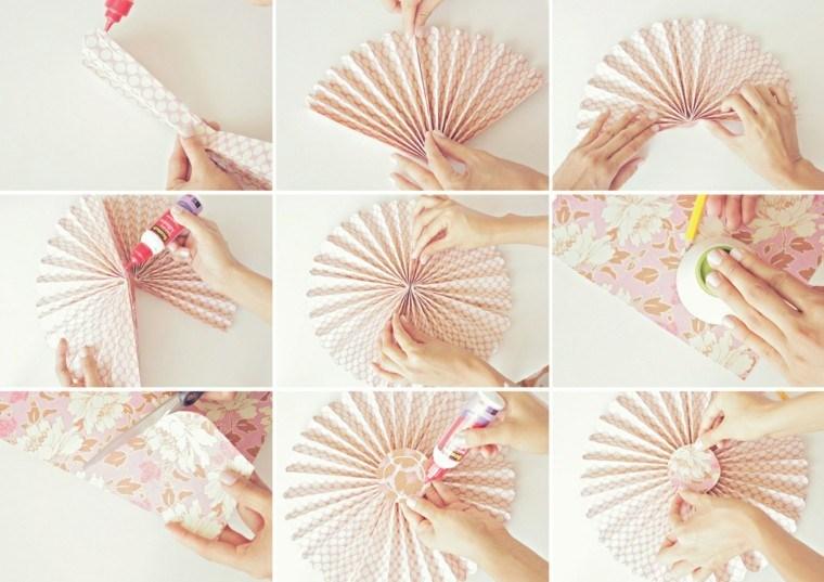 abanico rosa paredes detalle pared