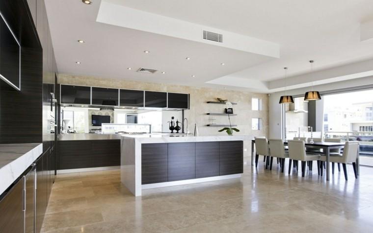 abierta salon cocina isla funcional espacio