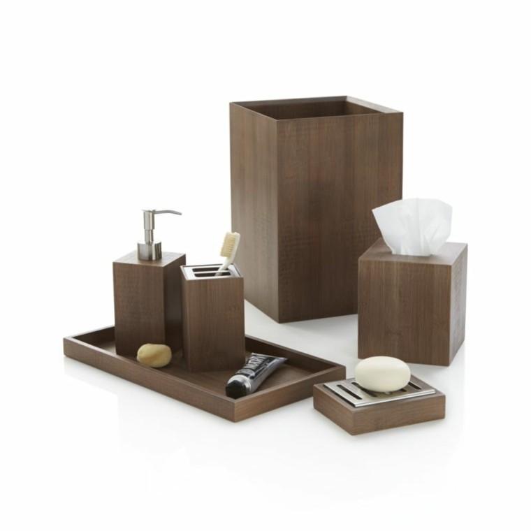 accesorios de baño laminado madera