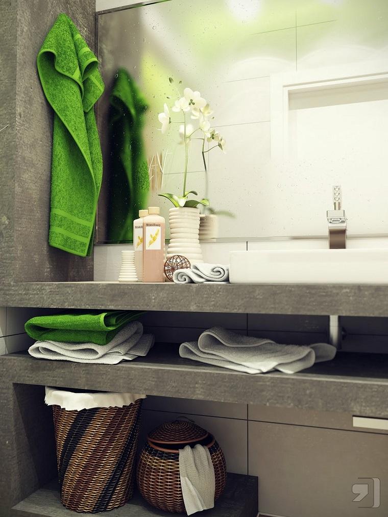 Accesorios Baño Verde:Accesorios para el baño pequeño ideas de cestos decorativos