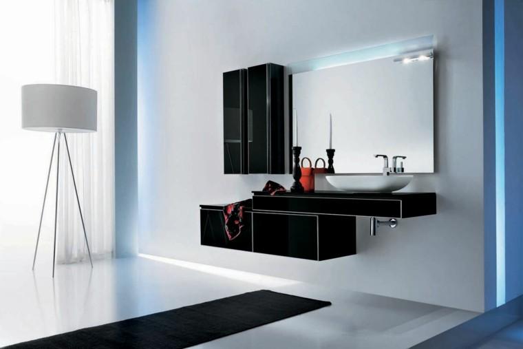 accesorios de baño negros modernos