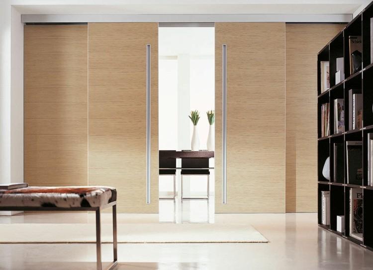 puerta corredera agradable salon iluminado pieles