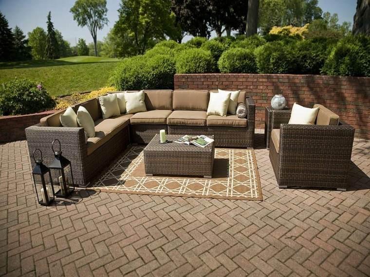 alfombra marron sofa grande jardin ideas