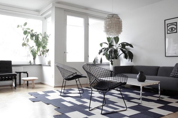 Muebles de salón colores de moda para el interior -