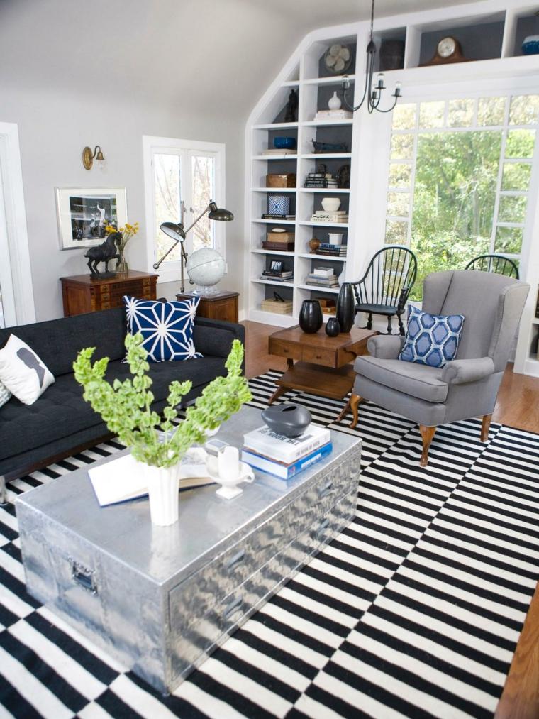 alfombras diseño salon cojines tradicional