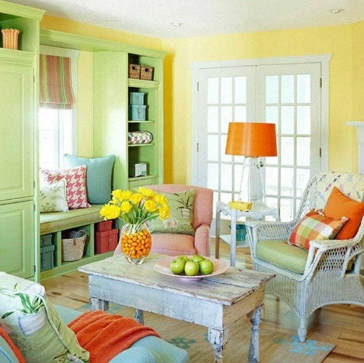 antiguo colorido muebles frutas vintage