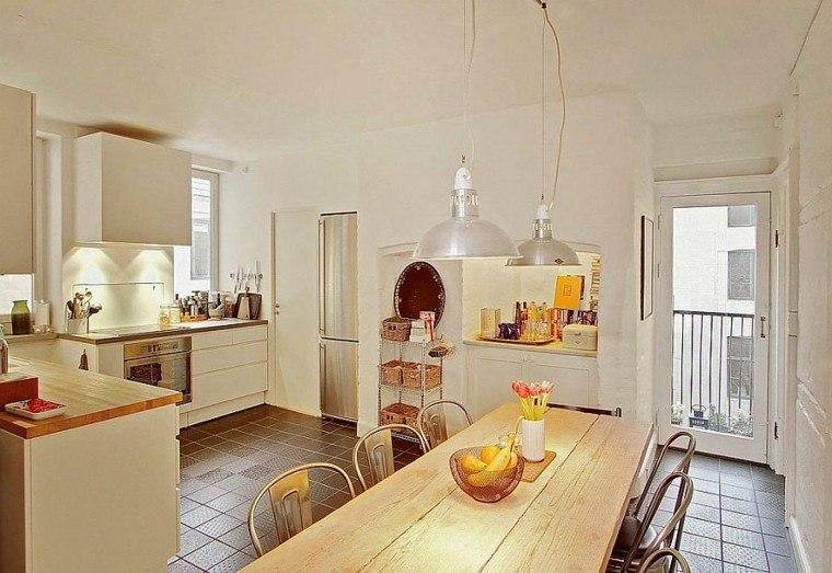 apartamento diseño escandinavo cocina estilo industrial ideas
