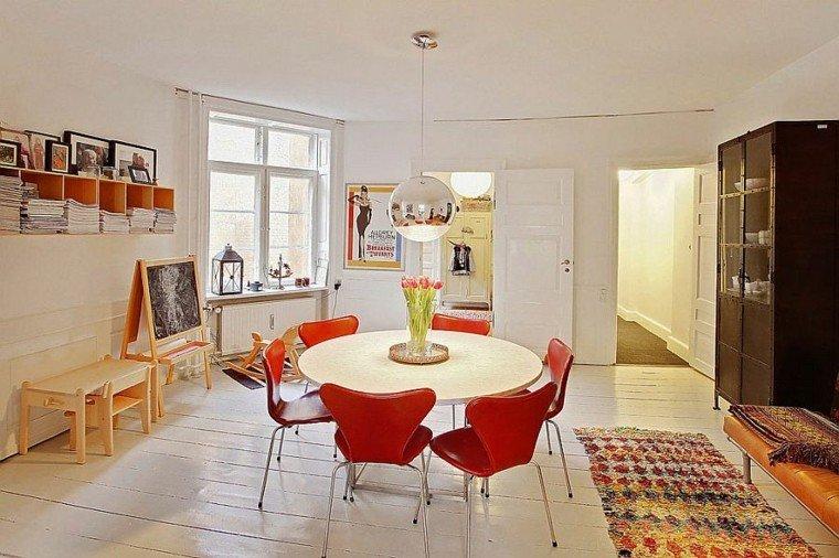 apartamento diseño escandinavo comedor pizarra ideas