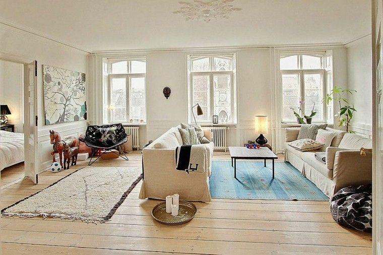Apartamento dise o escandinavo encantador y moderno - Diseno salon moderno ...