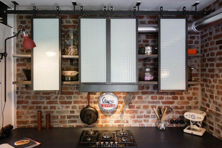 armarios pequenos estilo industrial cocina ideas