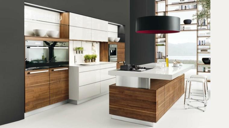 Decoraci n de interiores cocinas modernas con estilo for Cocina blanca y madera moderna