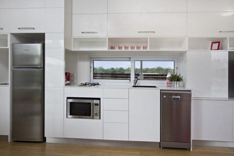 armarios suelo techo cocina grande ideas modernas