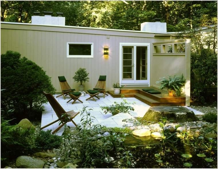 arquitectura jardin paisajismo moderno fuentes