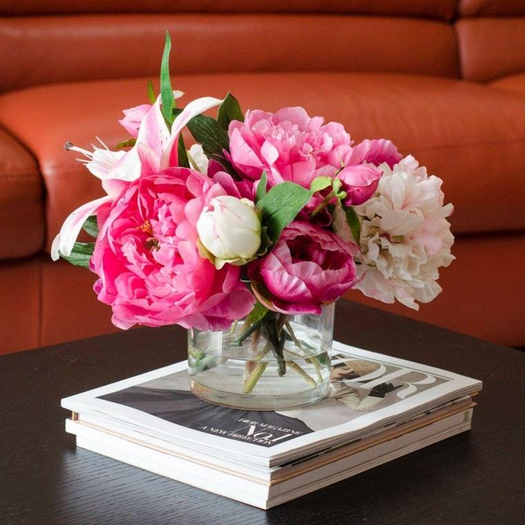 arreglos florales pequenos salon moderno ideas