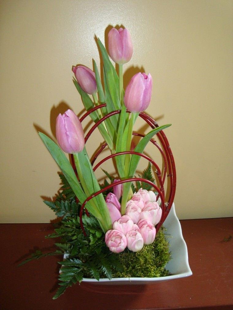 artificial ramas cesta diy flores
