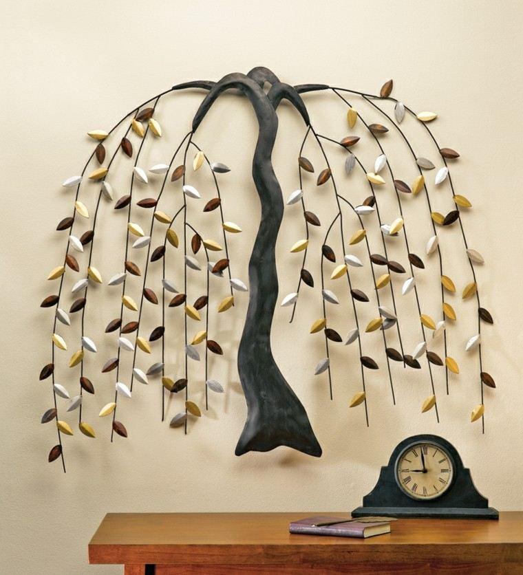 artistico arbol creacion reloj mesa