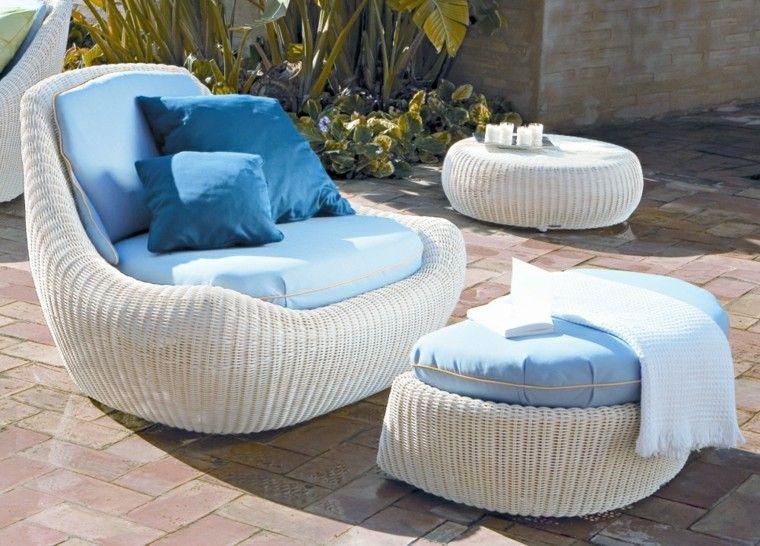 azul cojines blanco moderno impermeables